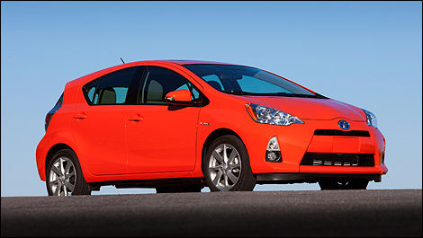 2013 Toyota Prius C side view