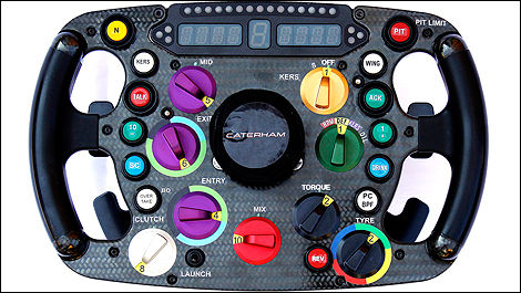 F1 Caterham CT03 steering wheel