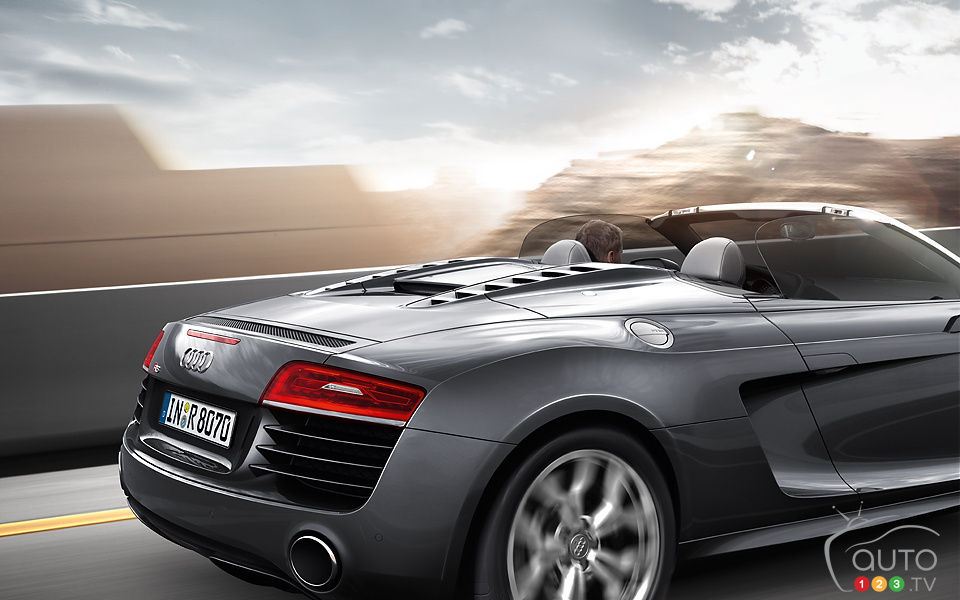 audi r8 spyder 2013 aper u actualit s automobile auto123. Black Bedroom Furniture Sets. Home Design Ideas