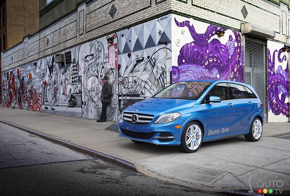 La Mercedes-Benz Classe B 2014 Electric Drive à New York Mercedes-ClasseB-2014-Elec-06