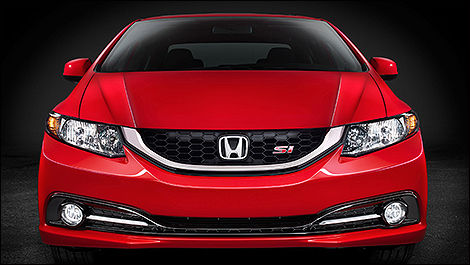 Honda Civic SI 2013 vue de face