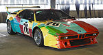 M1 BMW Art Car by Andy Warhol on display in L.A.