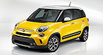 La Fiat 500L affiche de vilains messages