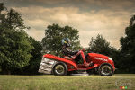 Honda lawn tractor reaches 100 km/h in 4 seconds!