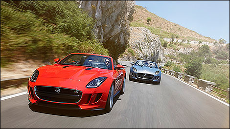 2014 Jaguar F-Type 3/4 view