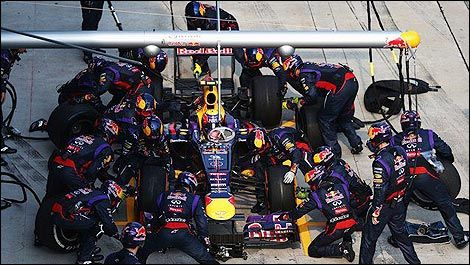 F1 Red Bull Racing pitstop