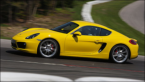 2014 Porsche Cayman S side view