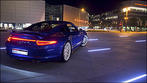 Porsche 911 Carrera 4S special edition rear 3/4 view