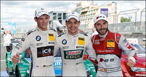 Marco Wittmann, Augusto Farfus, Miguel Molina, DTM, Nurburgring