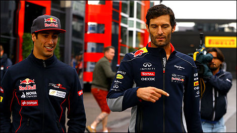 Daniel Ricciardo, Mark Webber, Red Bull, Spa-Francorchamps, F1