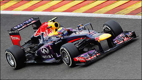 F1 Mark Webber Red Bull RB9