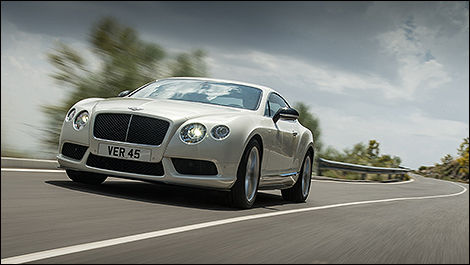 Bentley Continental GT V8 S Coupe vue 3/4 avant