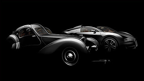 Bugatti 57SC Atlantic and Grand Sport Vitesse « Jean Bugatti » side view