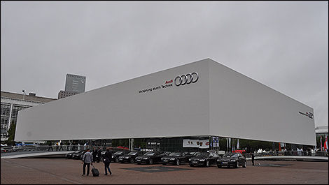 Audi's temporary pavillon