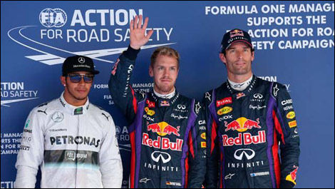 Korean Grand Prix qualifying, Lewis Hamilton, Sebastian Vettel, Mark Webber