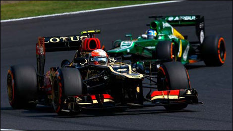 Romain Grosjean, Lotus E21, F1, Suzuka
