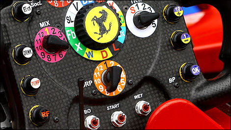 F1 Ferrari steering wheel