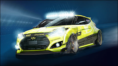 Hyundai Veloster Turbo Yellowcake par EGR