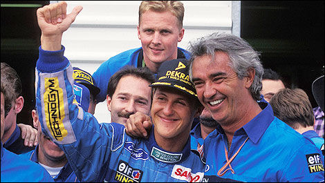 Schumacher, champion du monde de F1 1994, avec Benetton. Photo: WRi2