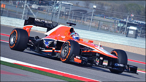 The Cosworth-powered Marussia, US Grand Prix in Austin