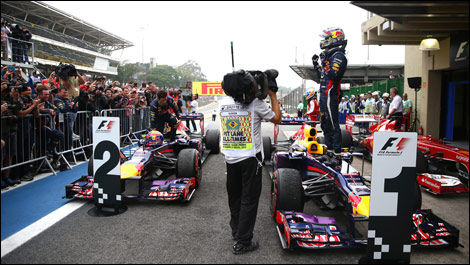 Brazilian Grand Prix, Red Bull Racing, Mark Webber, Sebastian Vettel