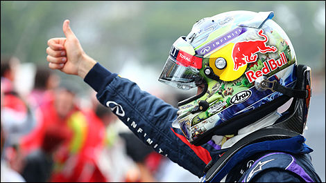 F1 Sebastian Vettel Red Bull World champion 2013