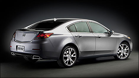 2014 Acura TL rear 3/4 view