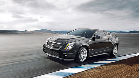 Cadillac CTS-V Coupe 2014 vue 3/4 avant