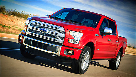 2015 Ford F-150 3/4 view