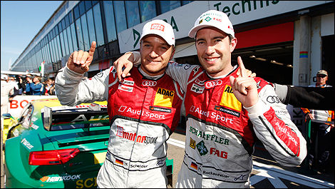 Timo Scheider and Mike Rockenfeller, Audi 2013