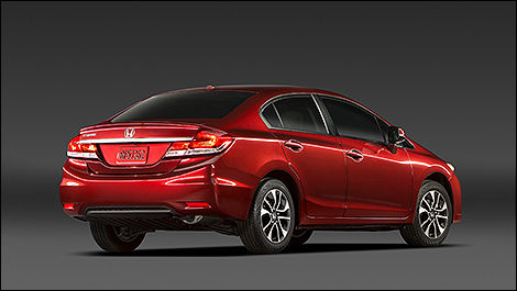 2014 Honda Civic Sedan rear 3/4 view
