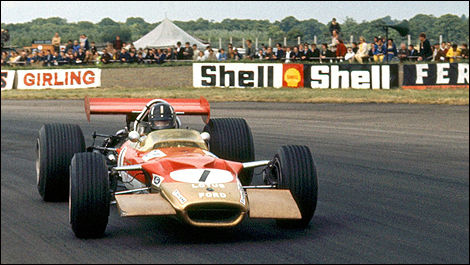 Graham Hill, Lotus 49B Ford, Silverstone