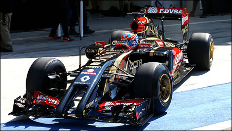 F1 Lotus E22 Romain Grosjean