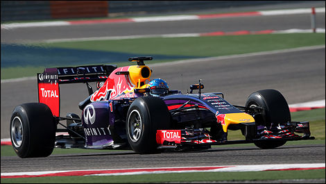 Bahrain F1 tests 2014 Sebastian Vettel, Red Bull Racing