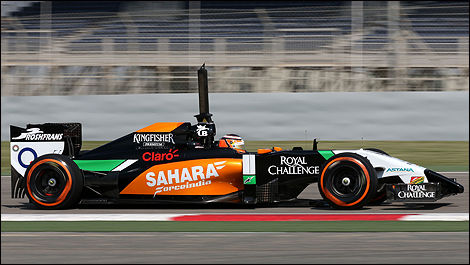 Bahrain F1 tests 2014 Nico Hulkenberg, Sahara Force India