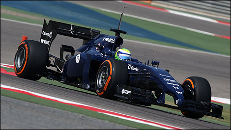 F1 2014 winter testing Bahrain Felipe Massa, Williams