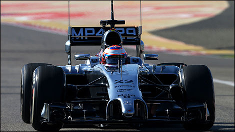 F1 2014 winter testing Bahrain Jenson Button, McLaren