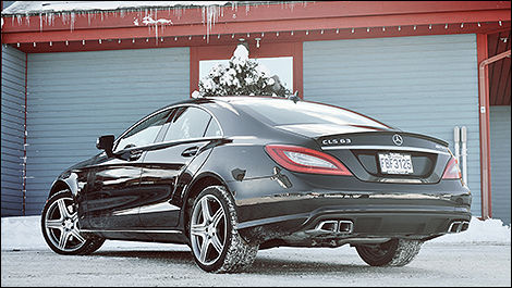 2014 mercedes benz cls 63 amg rear 34 view