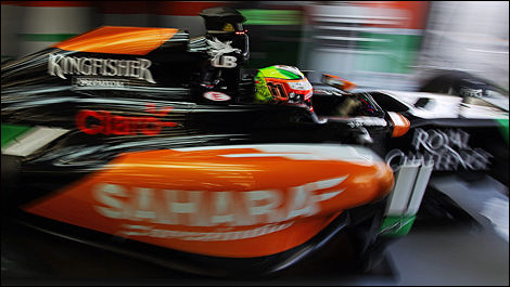 2014 F1 winter testing Bahrain Sergio Perez, Sahara Force India