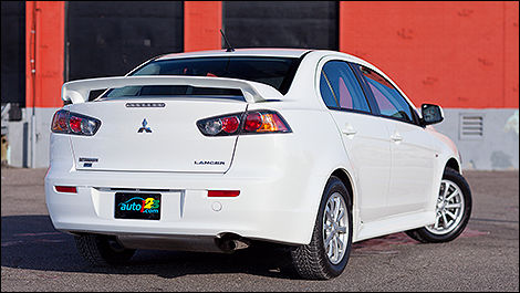 2012 Mitsubishi Lancer rear 3/4 view
