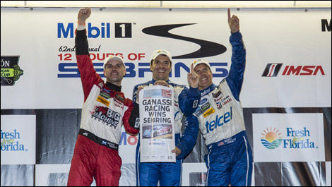 Marino Franchitti, Memo Rojas, Scott Pruett, 12 Hours of Sebring