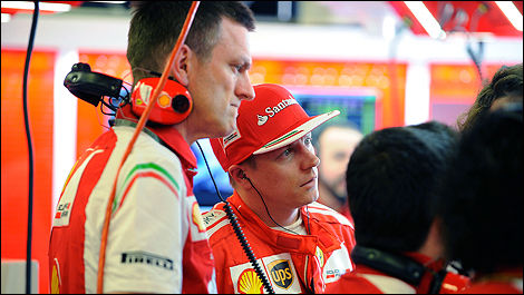 James Allison and Kimi Raikkonen.