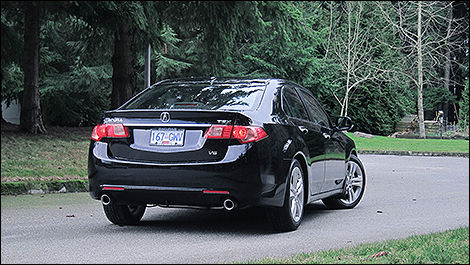 2012 Acura TSX rear 3/4 view