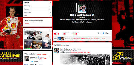 IndyCar Helio Castroneves Twitter