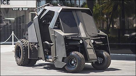 une voiturette de golf 39 39 batmobile 39 39 vendre actualit s automobile auto123. Black Bedroom Furniture Sets. Home Design Ideas