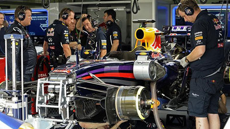 Garage Red Bull Racing