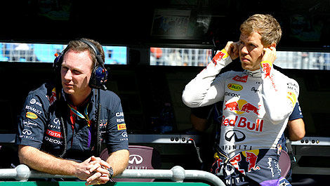 F1 Red Bull Racing Sebastian Vettel Christian Horner