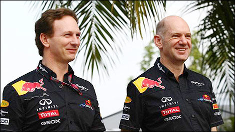 F1 Adrian Newey Red Bull Racing Christian Horner