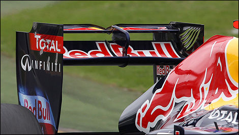 F1 Red Bull rear wing