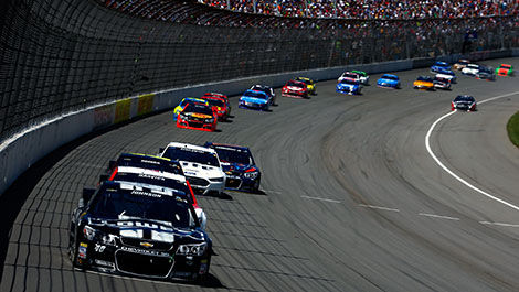 NASCAR Jimmie Johnson leads the pack in Michigan Pocono